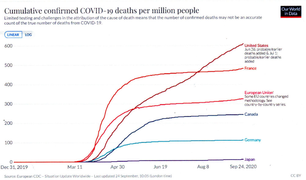 Cumulative C-19 deaths