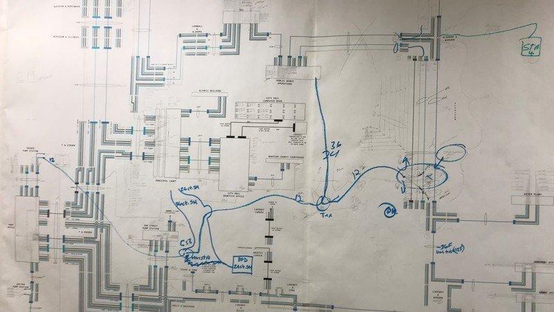 1980s hand drawn map