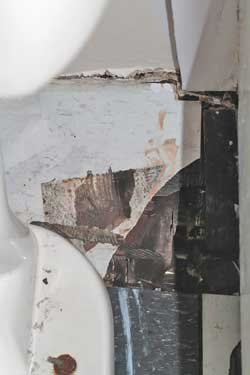 Hole in Bathroom Floor